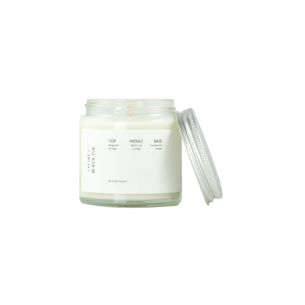 Soomish | Scented Soy Wax Candle | Lychee + Black Tea | 120ML