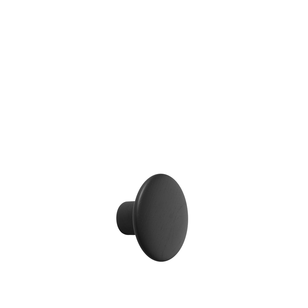 Muuto | Dots Wood Hook | 9cm | Black