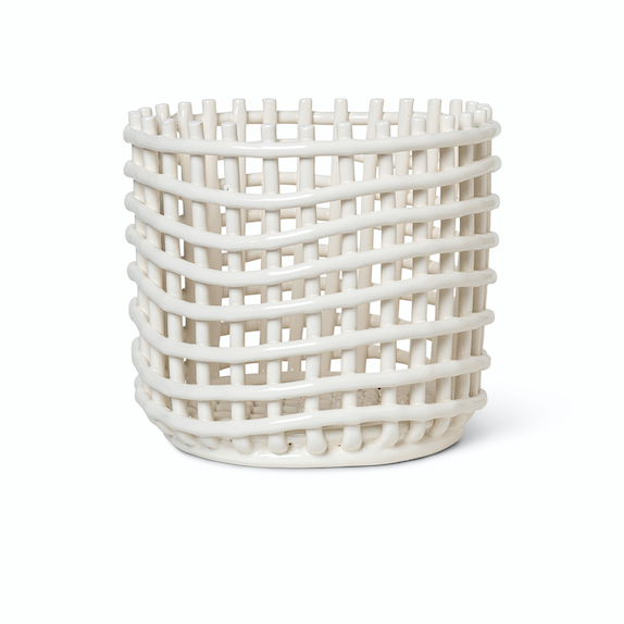 Ferm Living | Ceramic Basket | Large | Off-White
