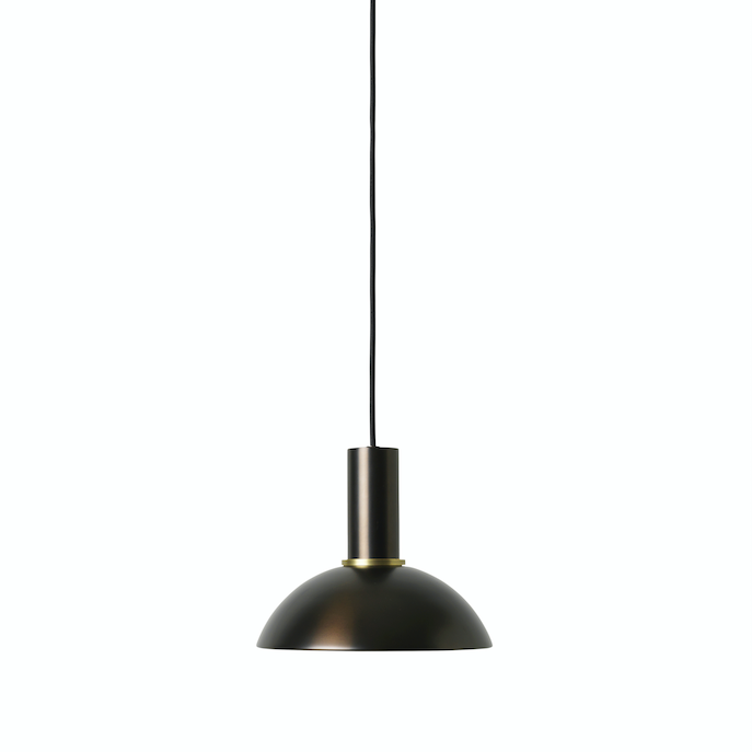 Ferm Living | Collect Socket Pendant Low | Black Brass