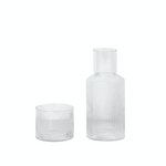 Ferm Living | Ripple Carafe Set | Clear