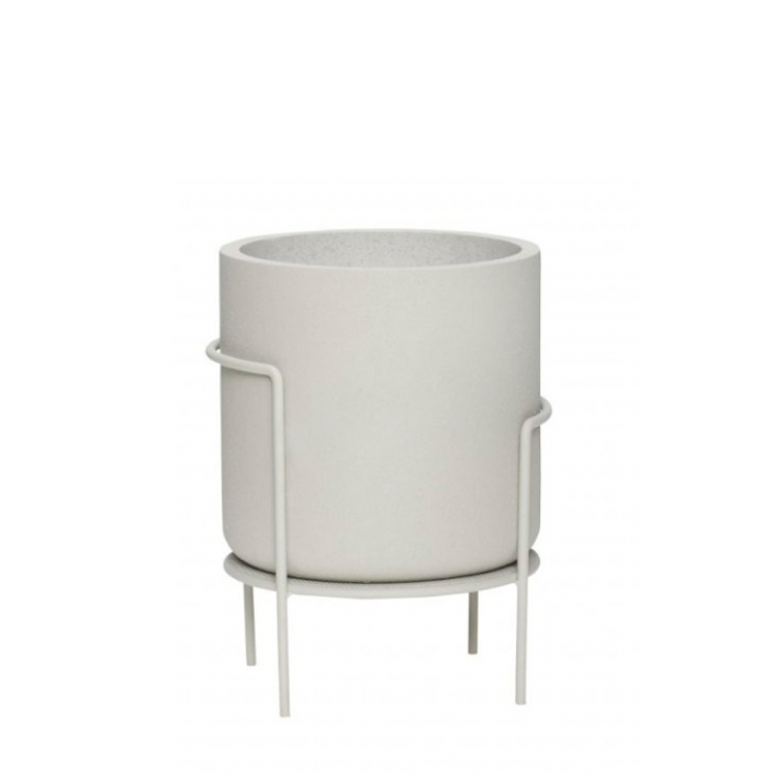 Hübsch | Planter | Light Grey