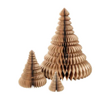 Broste Copenhagen | Paper Christmas Tree Set | Natural Brown