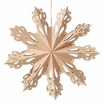 Broste Copenhagen | Snowflake Cut Paper Decoration | XL | Natural Brown