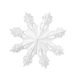 Broste Copenhagen | Snowflake Cut Paper Decoration | Large | White