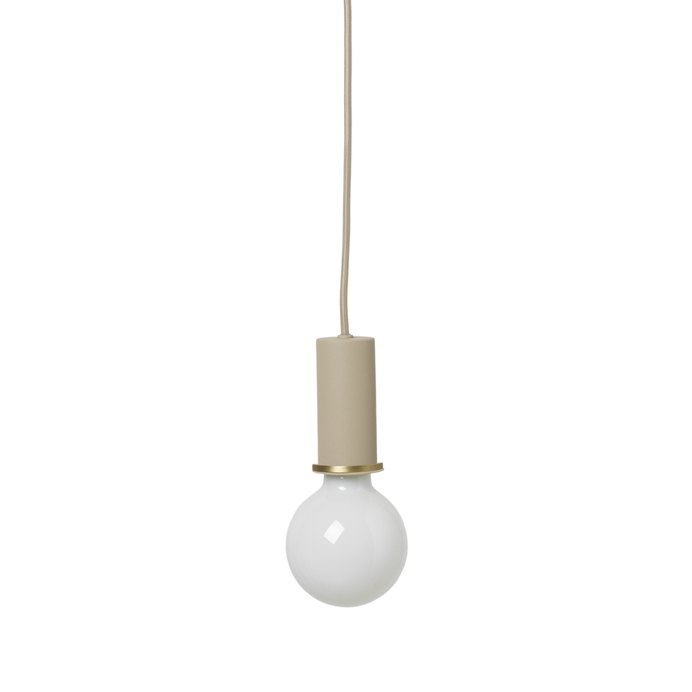 Ferm Living | Collect Socket Pendant Low | Coated Metal | Various Colours