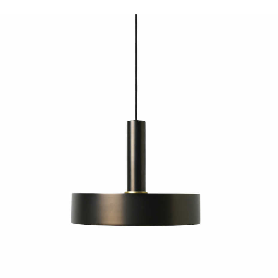 Ferm Living | Collect Record Shade | Coated Metal | Black Brass