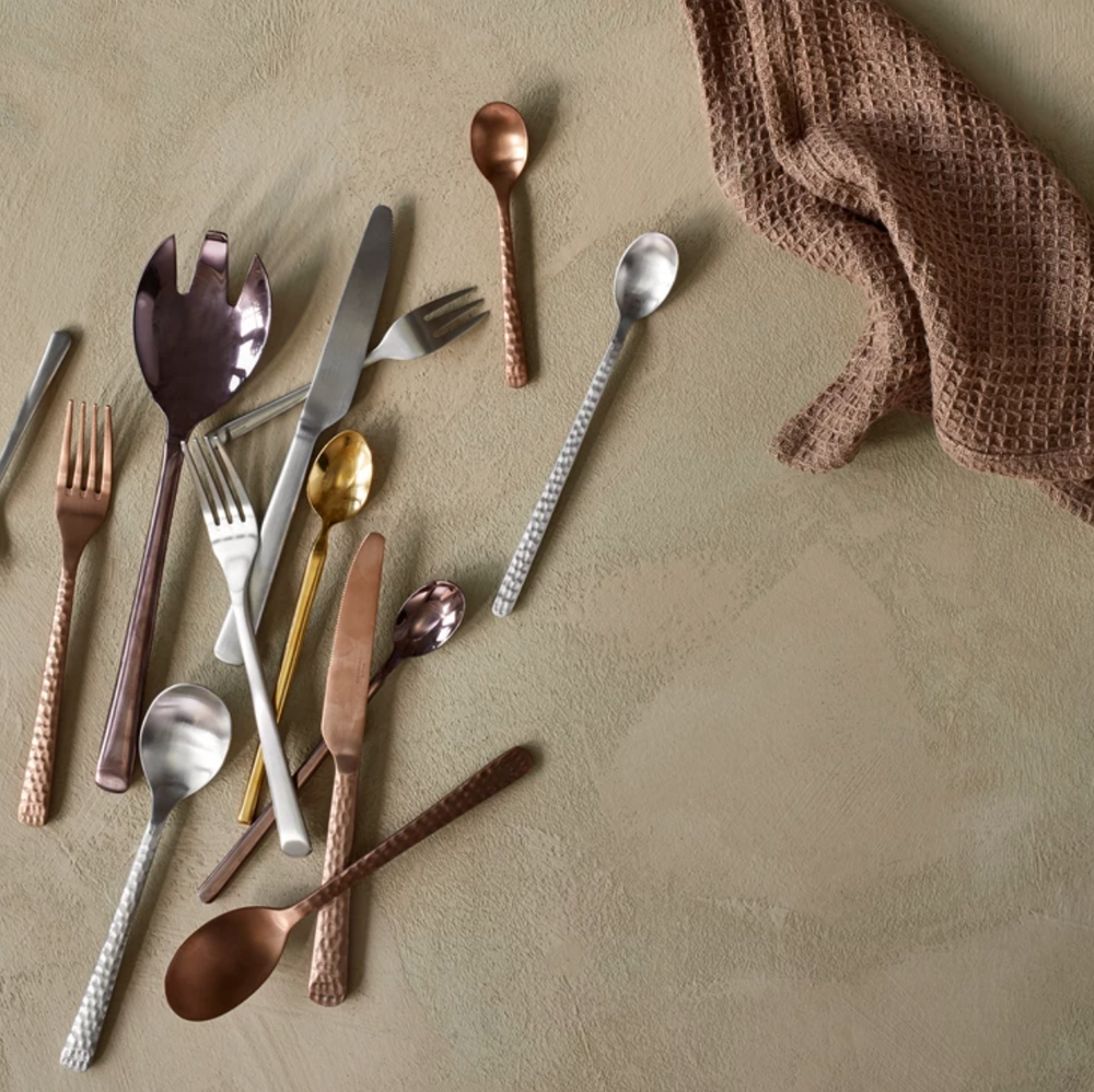 Broste Copenhagen | Hune | Hammered Copper Cutlery Set