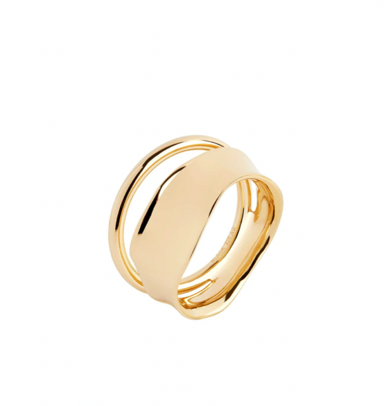 Maria Black | Midnight Ring | 18K Gold Plated