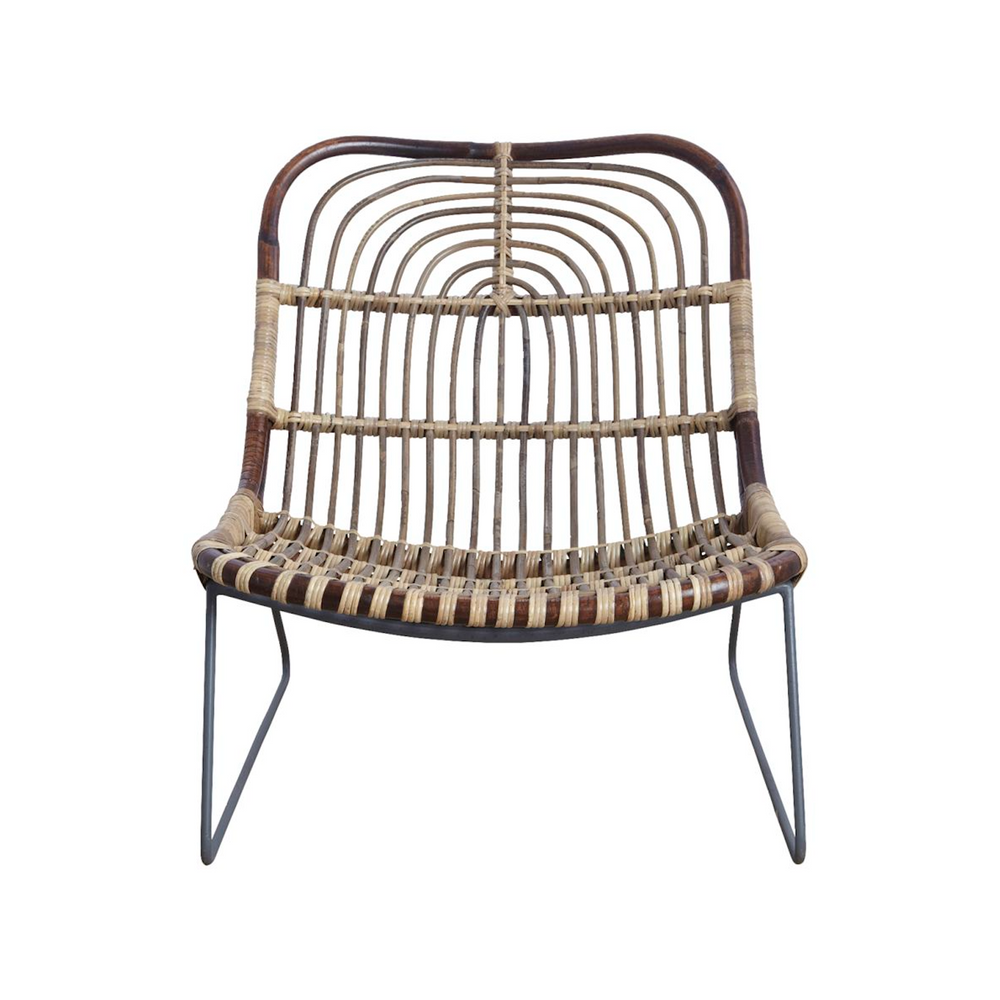House Doctor | Rattan and Metal Lounge Chair