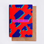 The Completist | Love Love Love | Premium Greetings Card