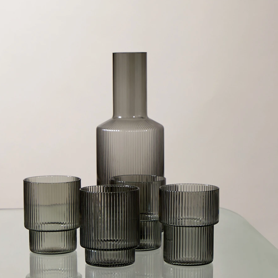 Ferm Living | Ripple Carafe | Smoked Grey