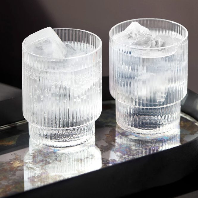 Ferm Living | Ripple Glasses | Clear | Set of 4