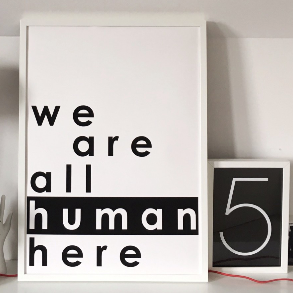 SOOuK | We Are All Human Here | 50 X 70