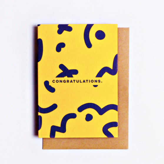 The Completist | Congratulations Squiggle | Premium Greetings Card