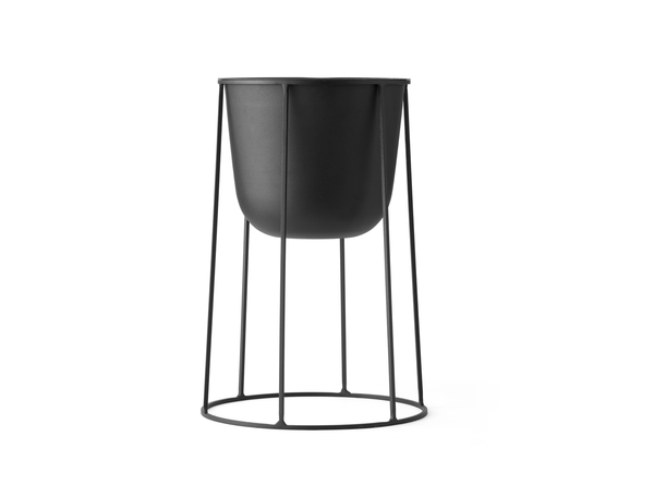 Menu | Medium Wire Planter Base | Black