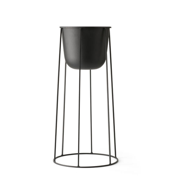 Menu | Large Wire Planter Base | Black
