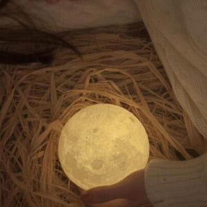 3D Moon Shaped Touch Control Night Light