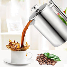 Load image into Gallery viewer, French Press Double-Wall Mirror Finish Coffee Pot