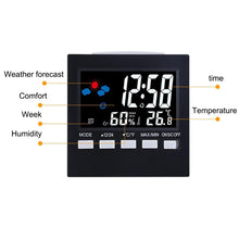 Load image into Gallery viewer, Digital Thermometer Humidity Display Clocks