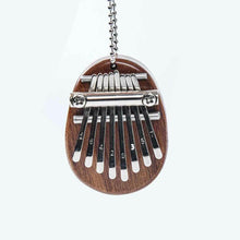 Load image into Gallery viewer, 8 Keys Mini Kalimba Sansula Thumb Piano Mbira Solid Wood Gift Toy With Lanyard