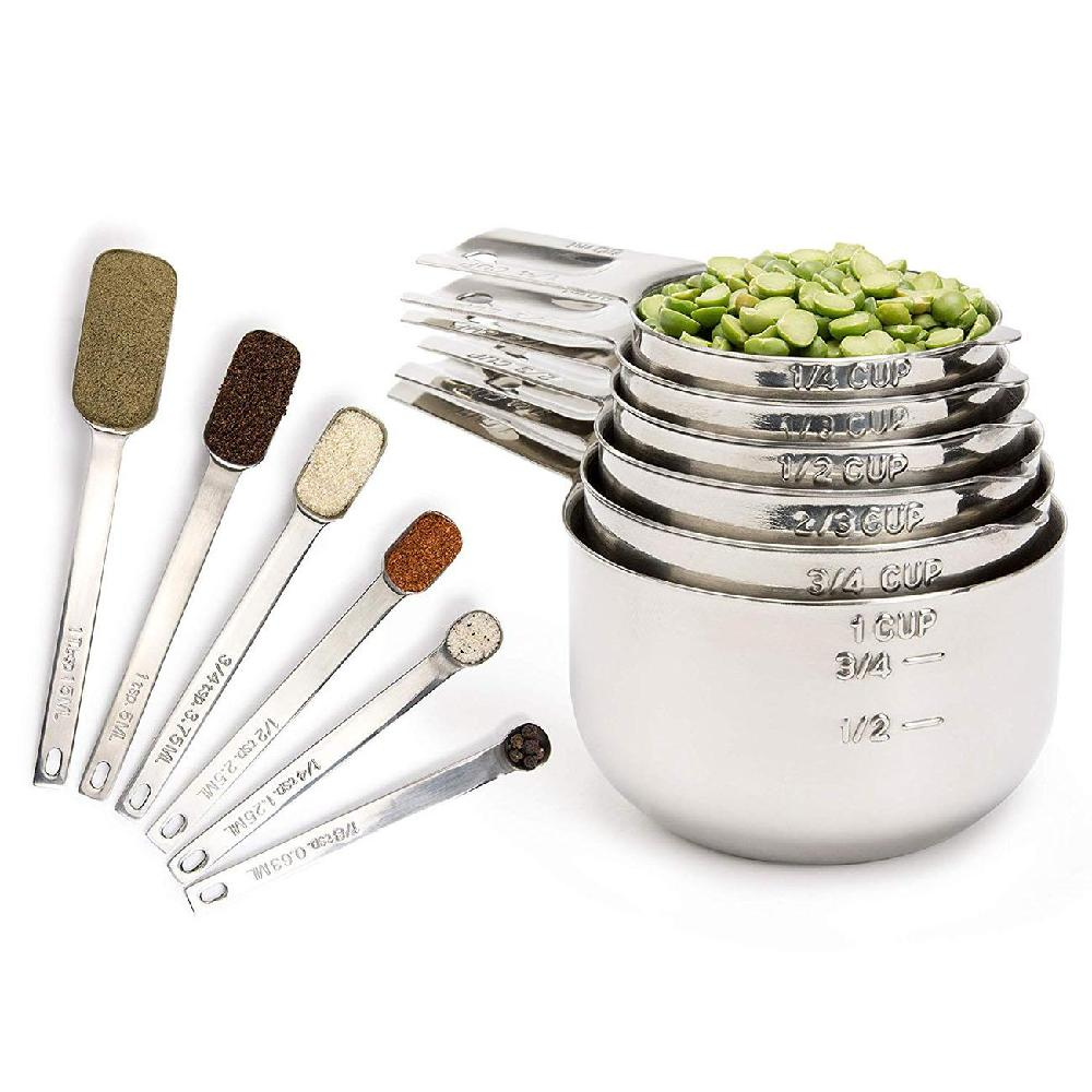 13Pcs/Set Stainless Steel Measuring Cup Spoon