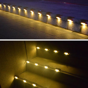 12Pcs Solar Powered LED Outdoor Lamps