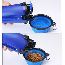 Load image into Gallery viewer, Outdoor Bottle for Pet Dog Feeder Drinking Folding Bowl