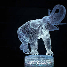 Load image into Gallery viewer, 3D Elephant Desktop Light (Remote Control)