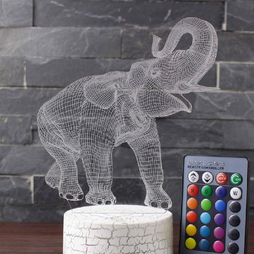 3D Elephant Desktop Light (Remote Control)