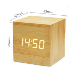 Load image into Gallery viewer, Mini Wood LED Electronic Clock