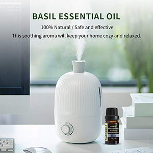 Basil Essential Oil 100% Natural Plant Therapeutic Grade Fragrance Essential Oil - 10ml