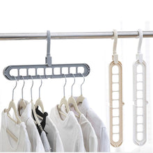 Load image into Gallery viewer, Multifunction Plastic Hangers Storage Racks