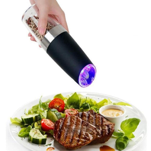 Automatic Electric Pepper Grinder Blue LED Light
