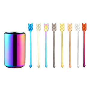 9Pcs/Set Stainless Steel Arrow Shaped Fruit Fork