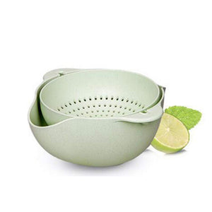Double Layered Rotatable  Strainer Bowl