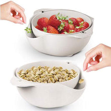 Load image into Gallery viewer, Double Layered Rotatable  Strainer Bowl