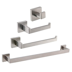 4Pcs/Set Stainless Steel Wall Mounted Towel Bar