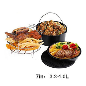 Home Air Fryer Pan Accessories 5 Pcs/Set Mat