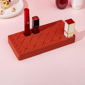 Silicone Lipstick Storage holder Cosmetics Storage Box Multi- lattice Innovative Display Stand Makeup Holder Home Organizer S/M/L SIZE Options