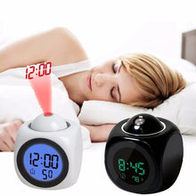 Load image into Gallery viewer, Digital LCD Display Alarm Clock
