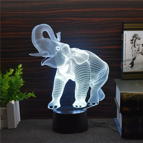 3D Elephant Desktop Light (Touch Switch)