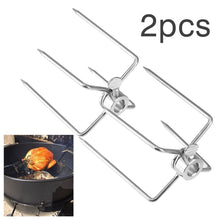 Load image into Gallery viewer, 2Pcs/Set Stainless Steel BBQ Spit Forks