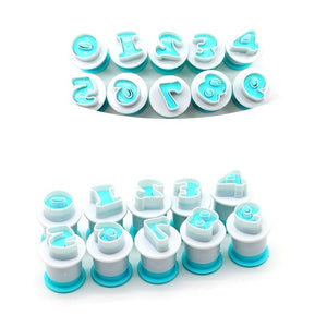 10Pcs/Set Numbers Cake Embossing Molds