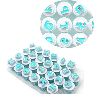 26Pcs/Set Lowercases Letters Cake Embossing Molds