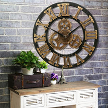 Load image into Gallery viewer, 30/34/40cm 3D Retro Wooden Wall Clock