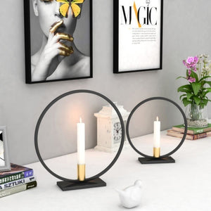 Metal 3D Geometric Light Candle Holder