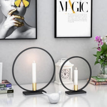 Load image into Gallery viewer, Metal 3D Geometric Light Candle Holder