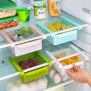 4Pcs/Set ABS Refrigerator Slide Storage Rack