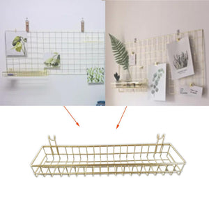 Nordic Style Iron Wire Wall Hanging Basket